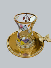 Load image into Gallery viewer, Butterfly Tea Cups with Plate - Set of 6