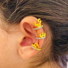 Load image into Gallery viewer, Earcuff with Arabic Letter -  ر