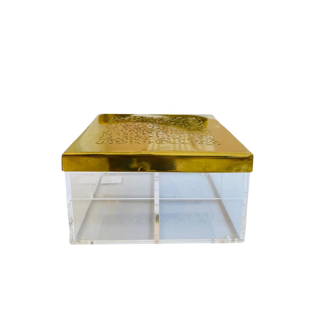 Tea/ Candy Calligraphy Box - 4 - Gold