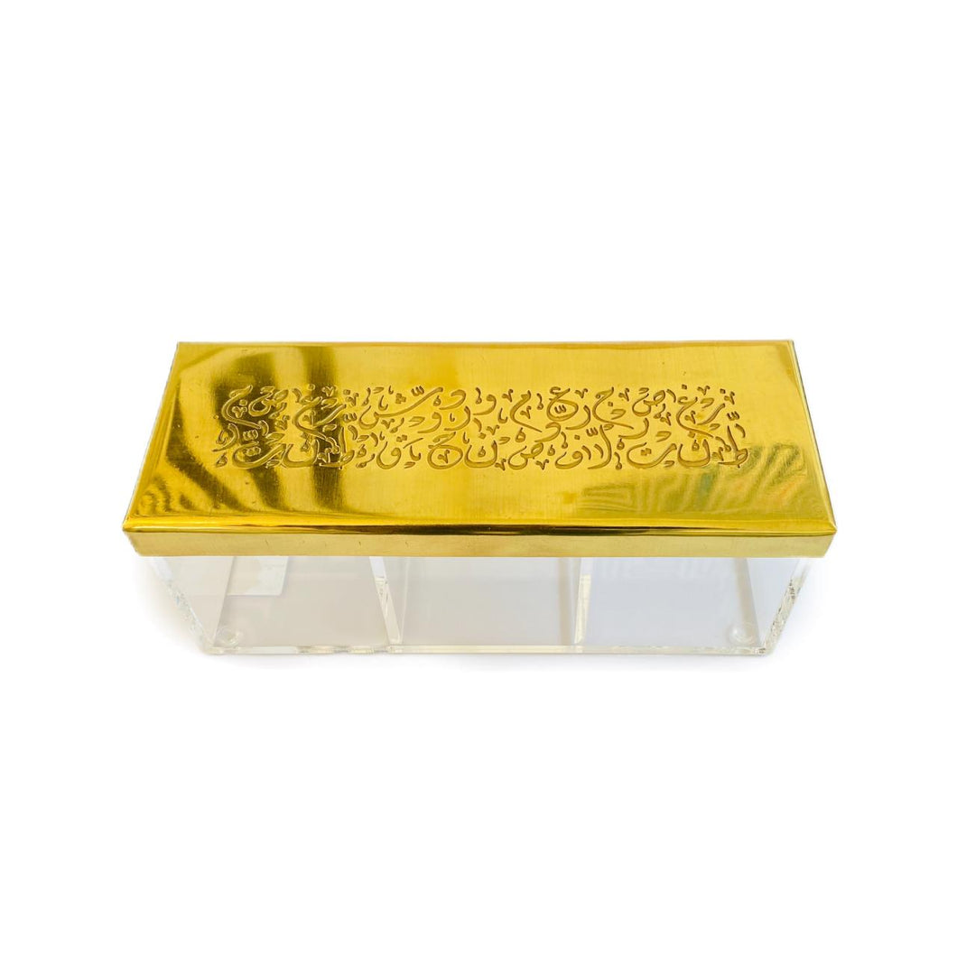 Tea/ Candy Calligraphy Box - 3 - Gold