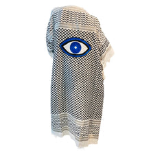 Load image into Gallery viewer, Evil Eye Kimono - Black & White