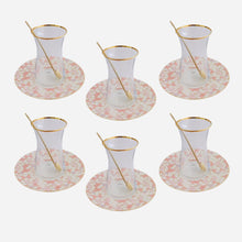 Load image into Gallery viewer, Zarina Geometric Tea Cup - Set of 6 - Pink