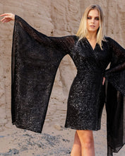 Load image into Gallery viewer, Haifa G Sequin Top/ Dress - Black