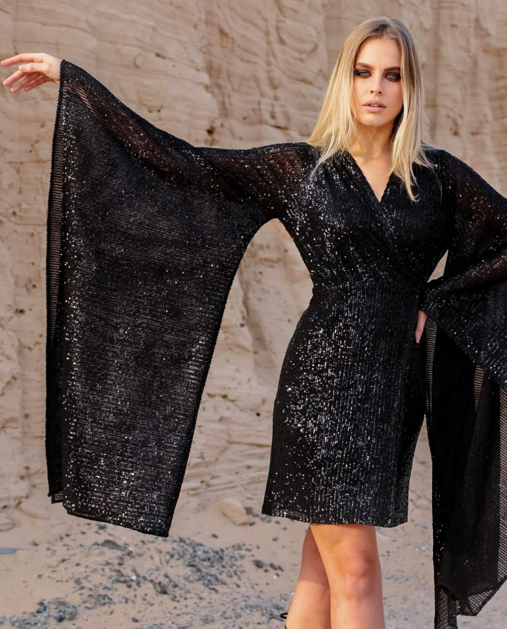 Haifa G Sequin Top/ Dress - Black