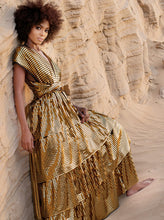 Load image into Gallery viewer, Haifa G Gold Metallic Maxi Dress