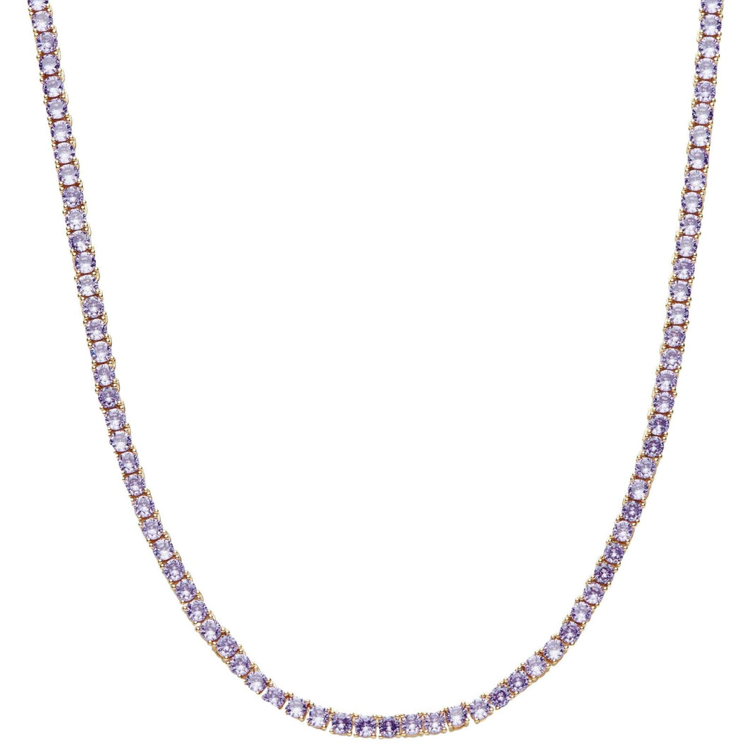 Crystal Haze Serena Necklace - Lilac