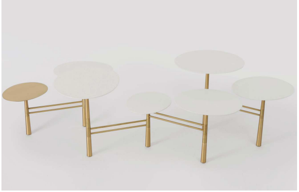 Nada Debs Pebble Low Table White /Brass