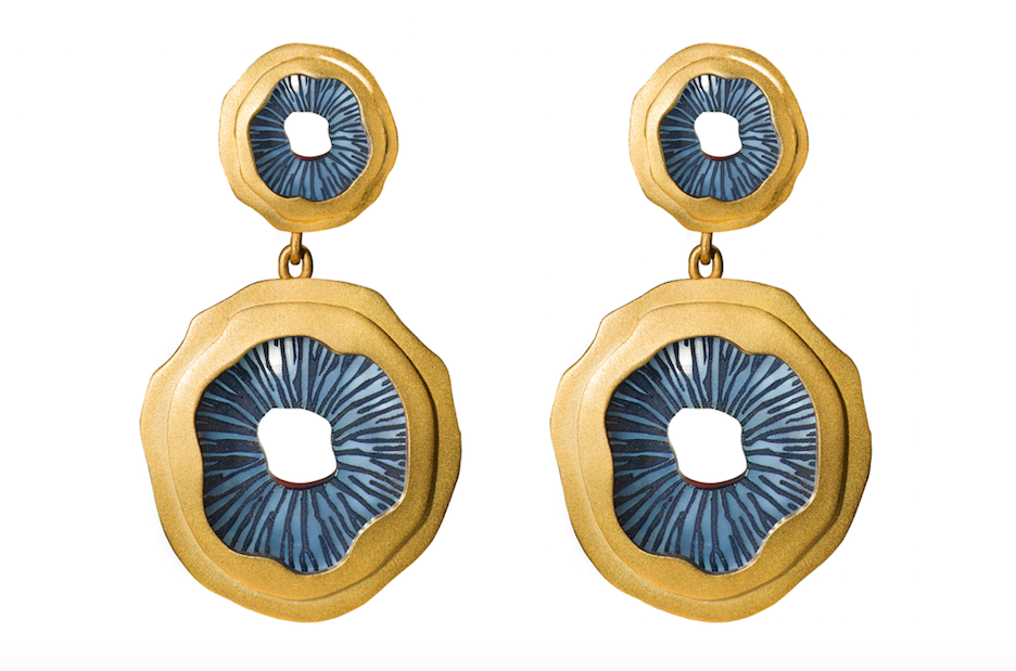 Jude Benhalim Mushroom Earrings - Blue