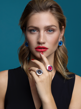 Load image into Gallery viewer, Jude Benhalim Mini Mushroom Ring - Sweet Blue