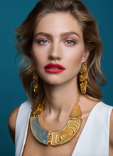 Load image into Gallery viewer, Jude Benhalim Banana Trunk Earrings
