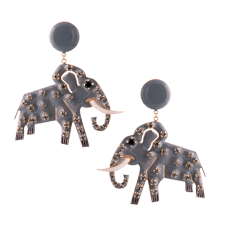 Elsa O Elephant Earrings