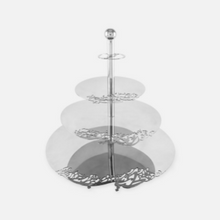 Load image into Gallery viewer, Kashida 3 Tier Afiyah Stand - Silver