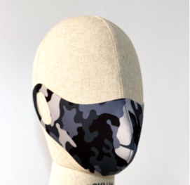 Atelier Ignacio Face Mask Set of 3 -  Camo Grey