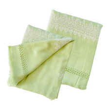 Load image into Gallery viewer, Kashmir Wool Hand Embroidered Blanket - Light Green