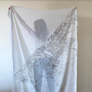 Canava Design Dubai Map Scarf