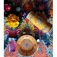 Load image into Gallery viewer, Les Ottomans x Matthew Williamson Napkin - Peacock