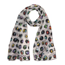 Load image into Gallery viewer, Annada Circles of Love Long Silk Scarf