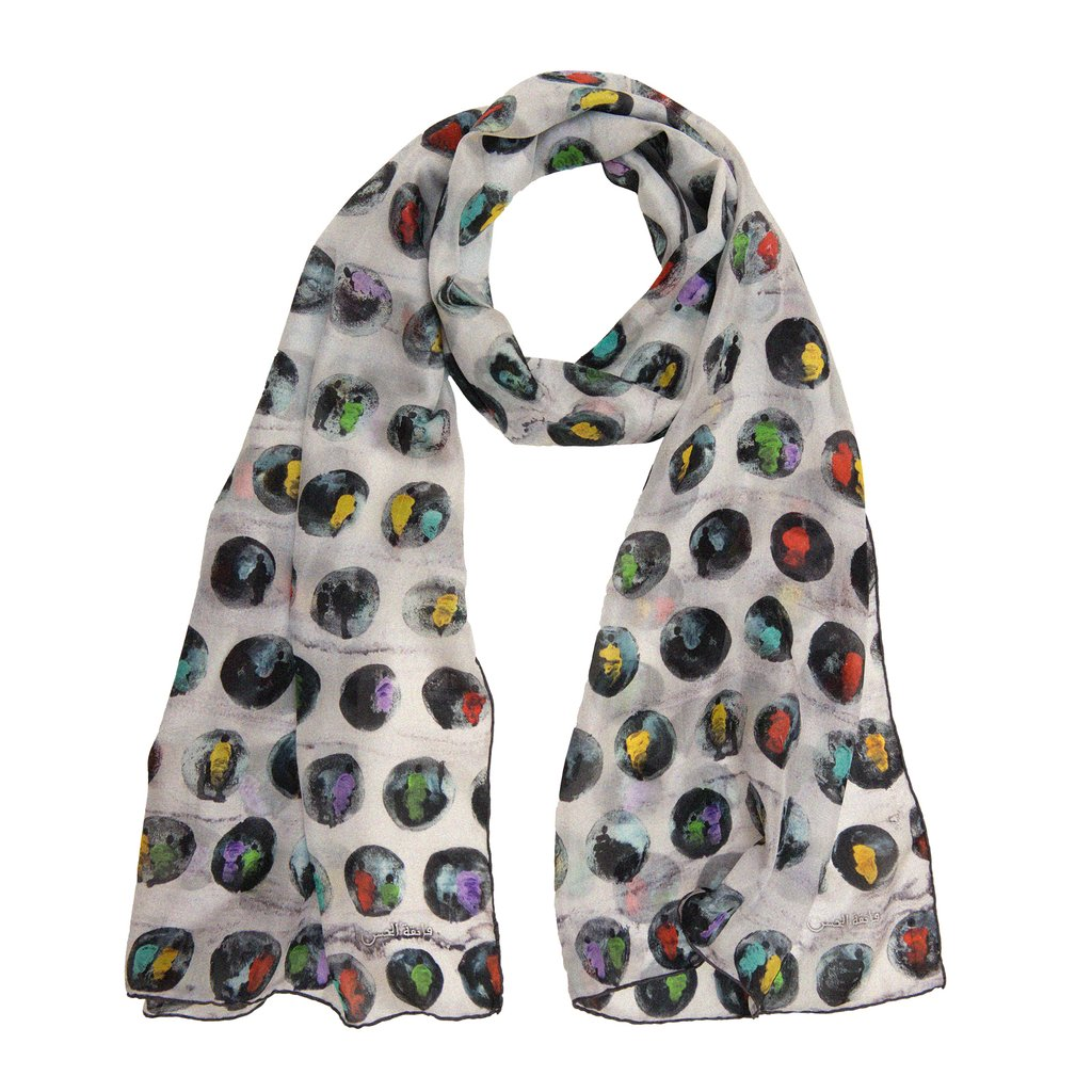 Annada Circles of Love Long Silk Scarf