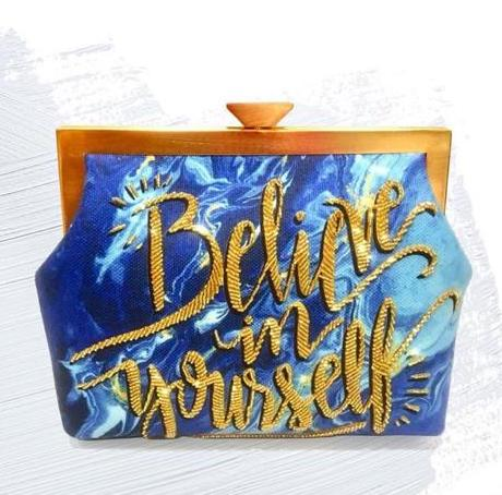 Pop Up Beirut Believe in Yourself Clutch