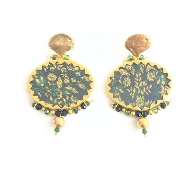 Nounzein Brocart Gold Earrings