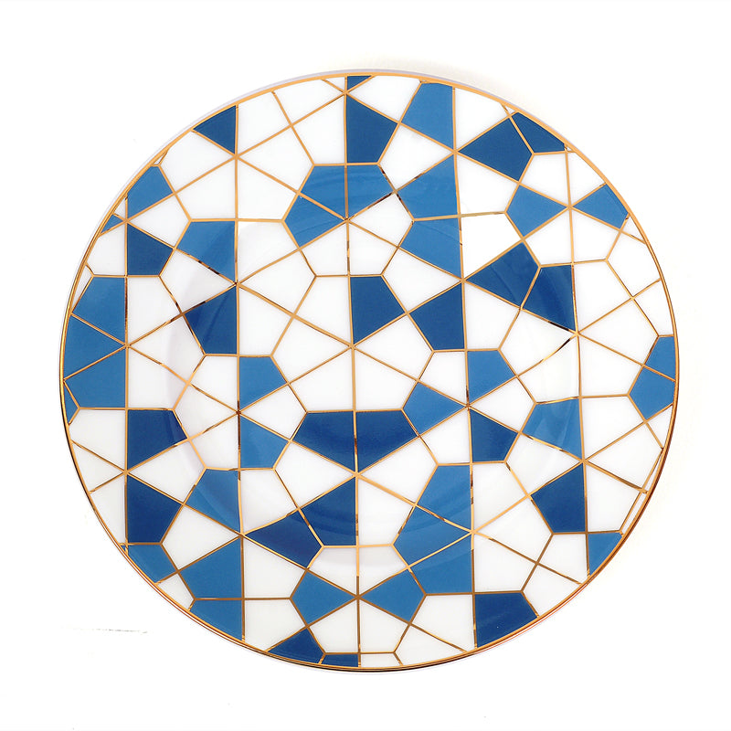 Zarina Geometric Salad/ Dessert Plates- Set of 6