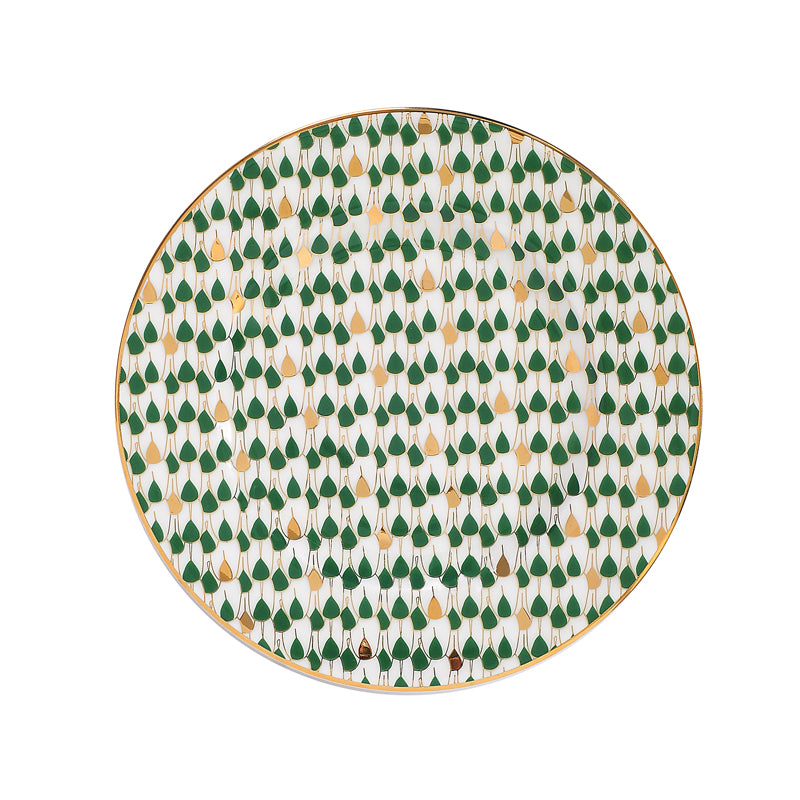 Zarina Swirl Green Salad/ Dessert Plates- Set of 6