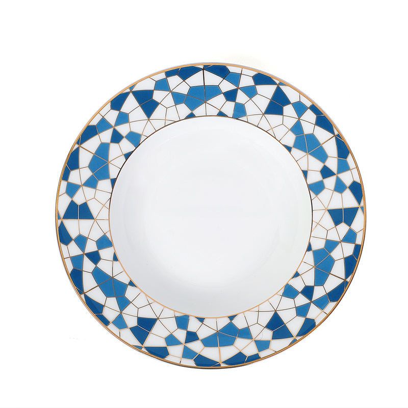 Zarina Geometric Soup Plates- Set of 6