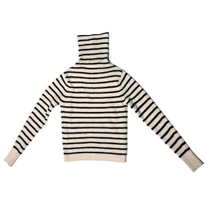 Floor Rollkragenpullover striped