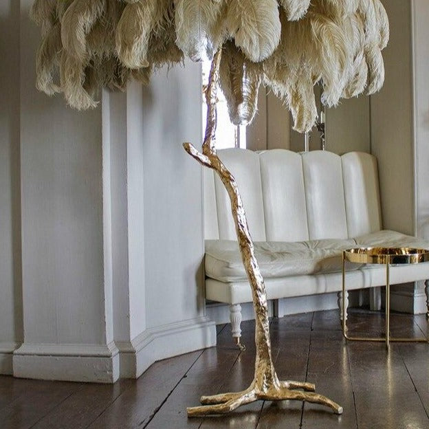 Modern Luxury Ostrich Feather Lamp