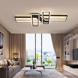 Modern Led Black Square Ceiling Lamp