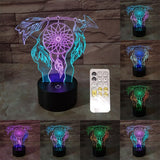 Dream Catcher Pattern Visual 3D Night Light