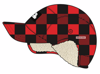 Glaciers Of Ice Buffalo Plaid Yarn-Dye Flannel Lumberjack Hat - Red
