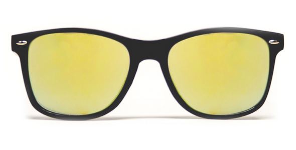 GloFX Diffraction Glasses - Black - Gold Mirror