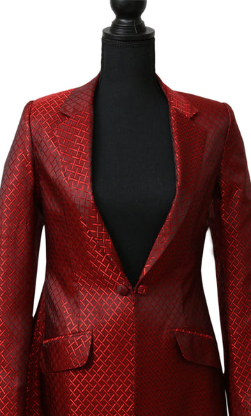 Red and Black with Notch Collar