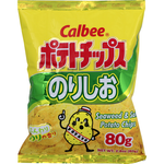 Calbee Salt & Seaweed Potato Chips