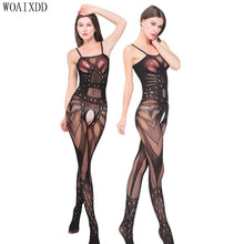 将图片加载到图库查看器,Plus Size Sexy Erotic Lingerie Bodystocking Open Crotch Nylon Body Stockings Bodysuit Porn Women Babydoll Pantyhose Sex Costumes