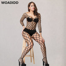 将图片加载到图库查看器,XXXXL Plus Size Hollow Lingerie Erotic Soft Pajamas Sexy Mesh Langerie Costumes Porn Fishnet Babydoll bodystockings Underwear