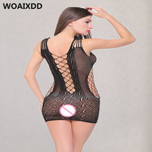 将图片加载到图库查看器,WOAIXDD Sexy costumes Women underwear sex product lingerie Stripper Teddies Catsuit Baby dolls Mini Dress Nightgown bodystocking