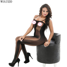 将图片加载到图库查看器,Sexy Body Stocking Fishnet Open Crotch Bodysuit Nightwear Lingerie Sexy Net Nightdress Women Bodystocking эротическое белье