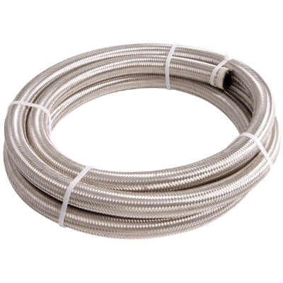 AF100-08-30M    SS BRAIDED HOSE -8AN 30 METRE SILVER S/S 11.1mm ID 17.7mm OD