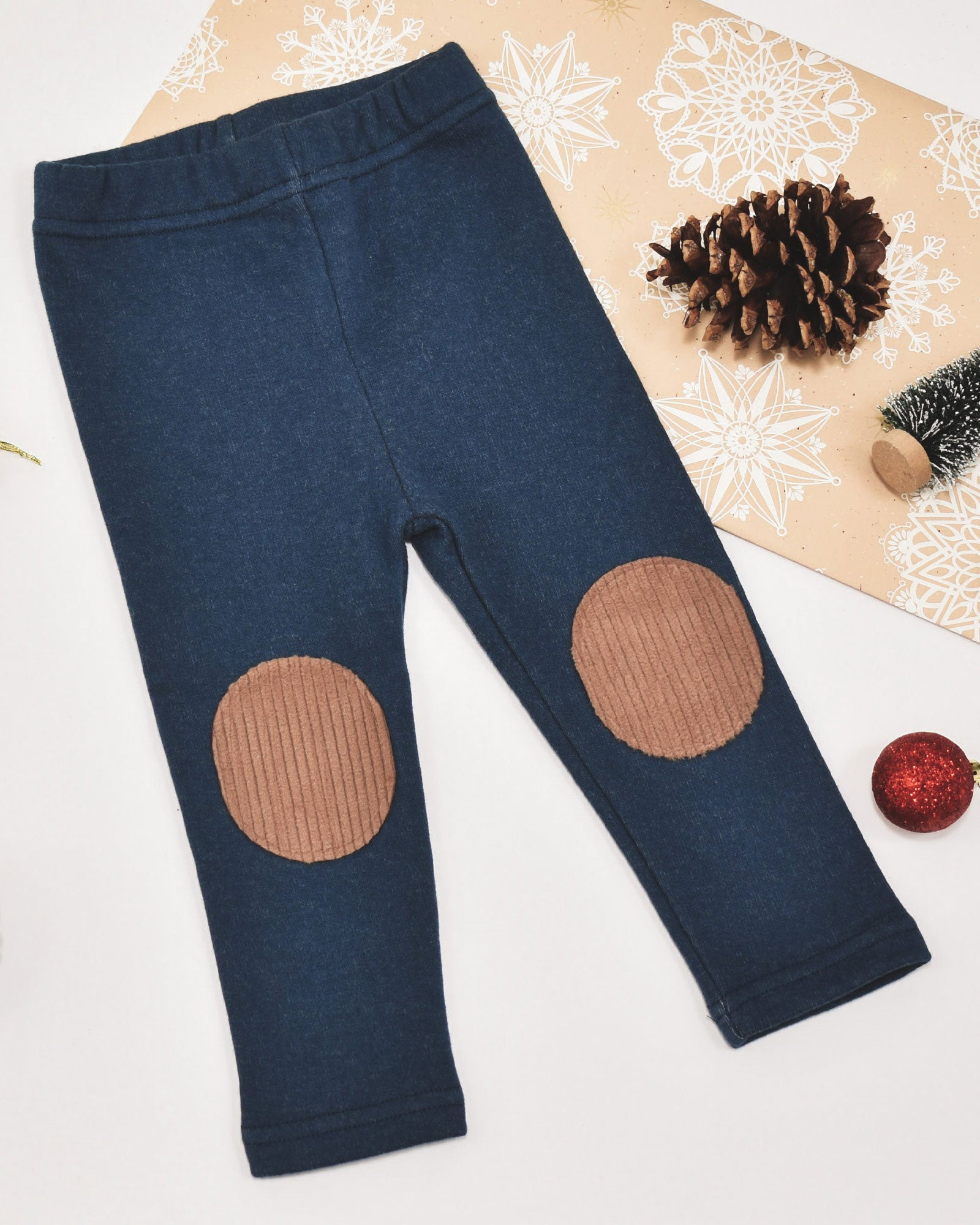 Avery Patch Leggings - Midnight Blue