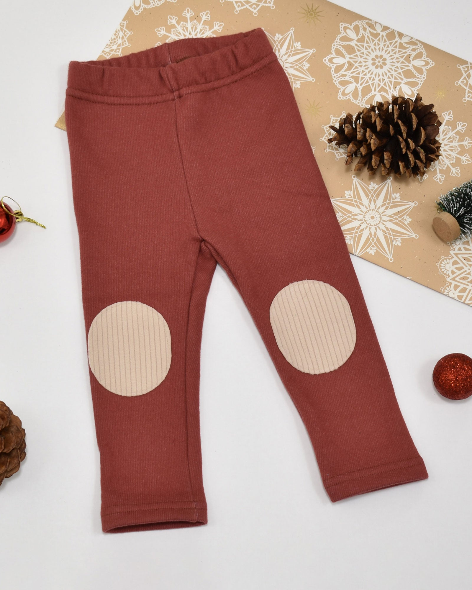 Avery Patch Leggings - Cherry