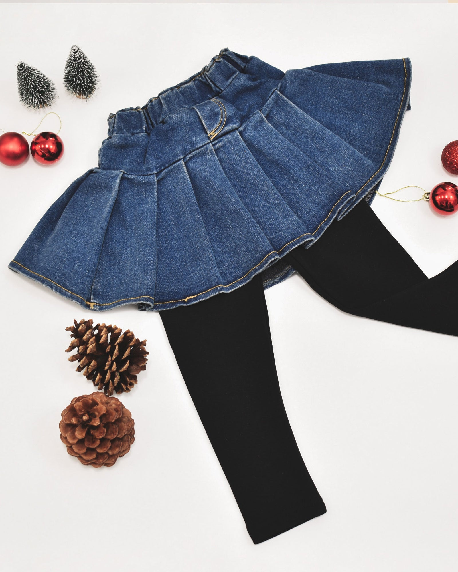 Kinsley Denim Skirt Leggings