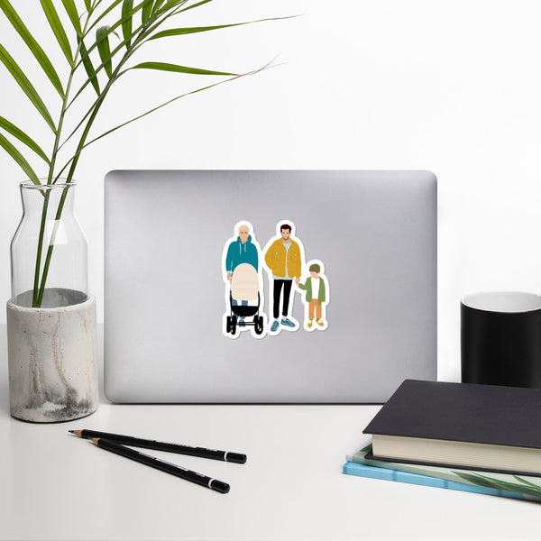 2 Dads LGBTQ Family  stickers