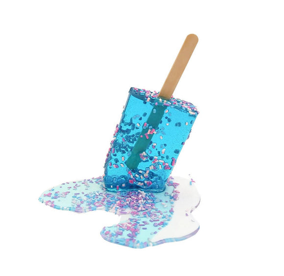 Blue Sprinkle Popsicle
