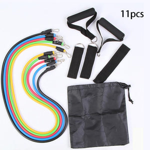 11 Piece Adjustable Resistance Band Set