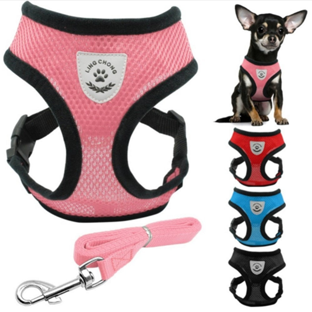 Harness Collar For Chihuahua Pug Bulldog