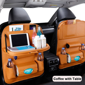 Pu Leather Pad Bag Car Storage Organizer