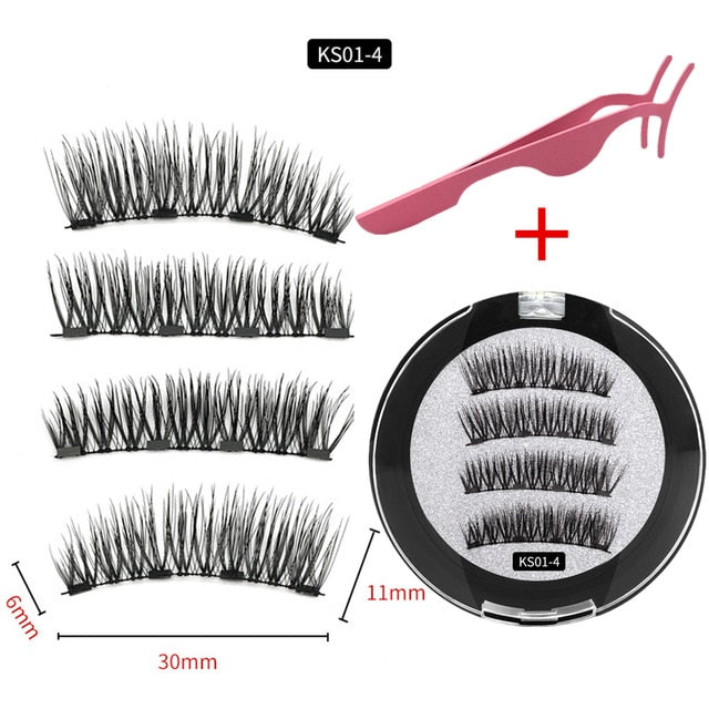 Magnetic Eyelashes With 3/4 Magnets
