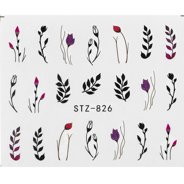 Water Decal Manicure Manicure Decor